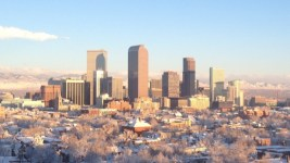 A view of Denver in winter. (R0uge/Wikimedia Commons)