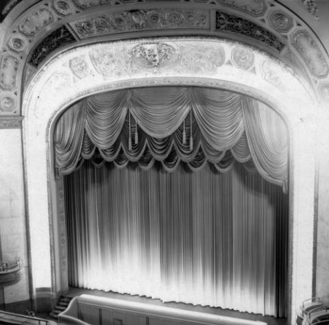 The stage at the Denver Theater, 510 16th St., in July 1964. (Denver Public Library/Western History Collection/X-24611)