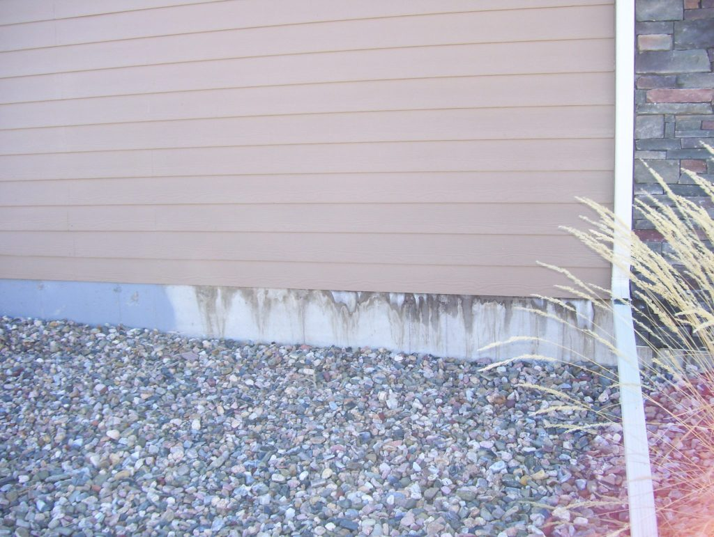 Mold seeps from the exterior of a home used for residential marijuana growing. (Courtesy of the Colorado Springs Police)