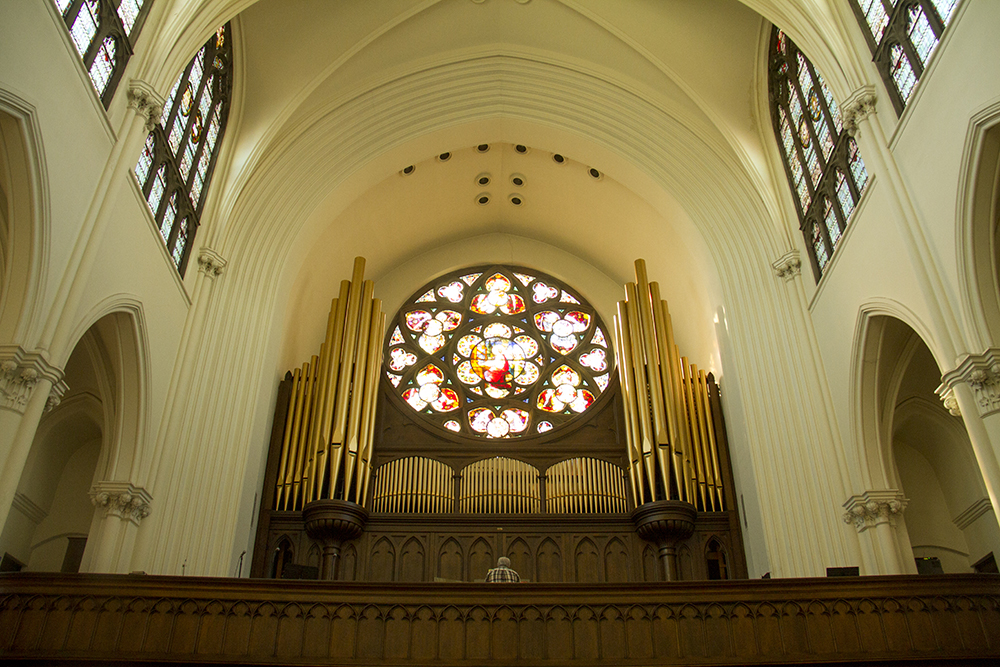 An organ player rips the pipes at the Cathedral Basilica of the Immaculate Conception (Kevin J. Beaty/Denverite)  cathedral basilica of the immaculate conception; colfax; capitol hill; church; denver; colorado; denverite; kevinjbeaty;