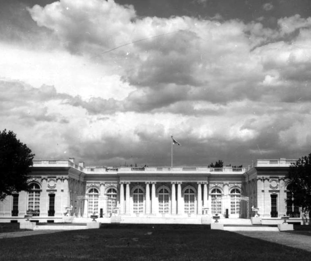 Exterior view of Grand Trianon, formerly called Claremont, Colorado Springs. Between 1960 and 1970. (Sandra Dallas/Denver Public Library/Western History Collection/X-14716)  history colorado; historic; denver public library; dpl; archive; archival; denverite