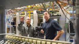 Employees work at a Level 3 Communications facility. (Courtesy of Level 3 Communications)