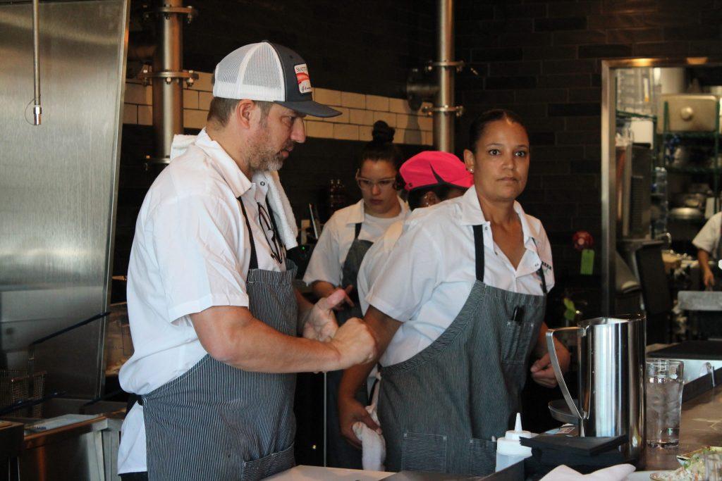 Chef/owner Kevin Morrison and executive chef/managing partner Aniedra Nichols at Fish N Beer on Nov. 1, 2016. (Ashley Dean/Denverite)