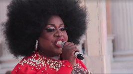 Latrice Royale speaks to Denver Pridefest. (Kevin J. Beaty/Denverite)