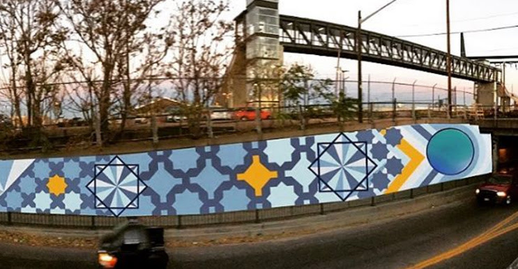 The east side of a new mural at 38th and Walnut streets. (RiNo Arts District)