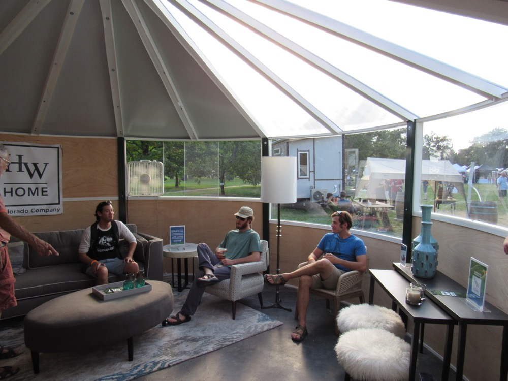 Visitors gather in a circHouse yurt at Denver Flea. (Courtesy Edward Ryan)