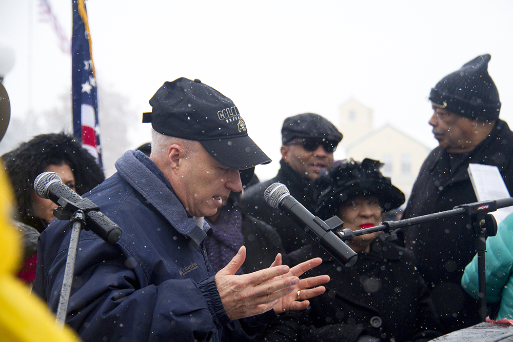U.S. Representative Mike Coffman. The Martin Luther King Jr. Marade, Jan. 16, 2017. (Kevin J. Beaty/Denverite)  mlk; marade; martin luther king jr; city park; denver; colorado; kevinjbeaty;
