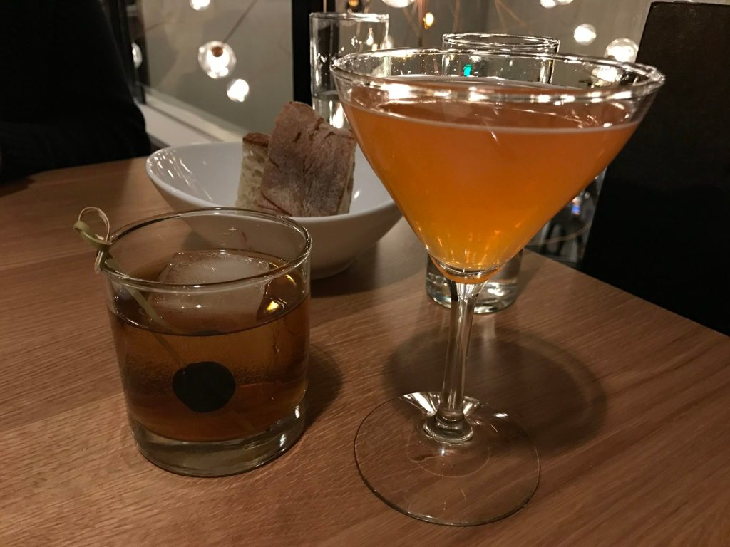 A Manhattan and a Campo di Fioir at the new location of Il Posto at 26th and Larimer. (Ashley Dean/Denverite)