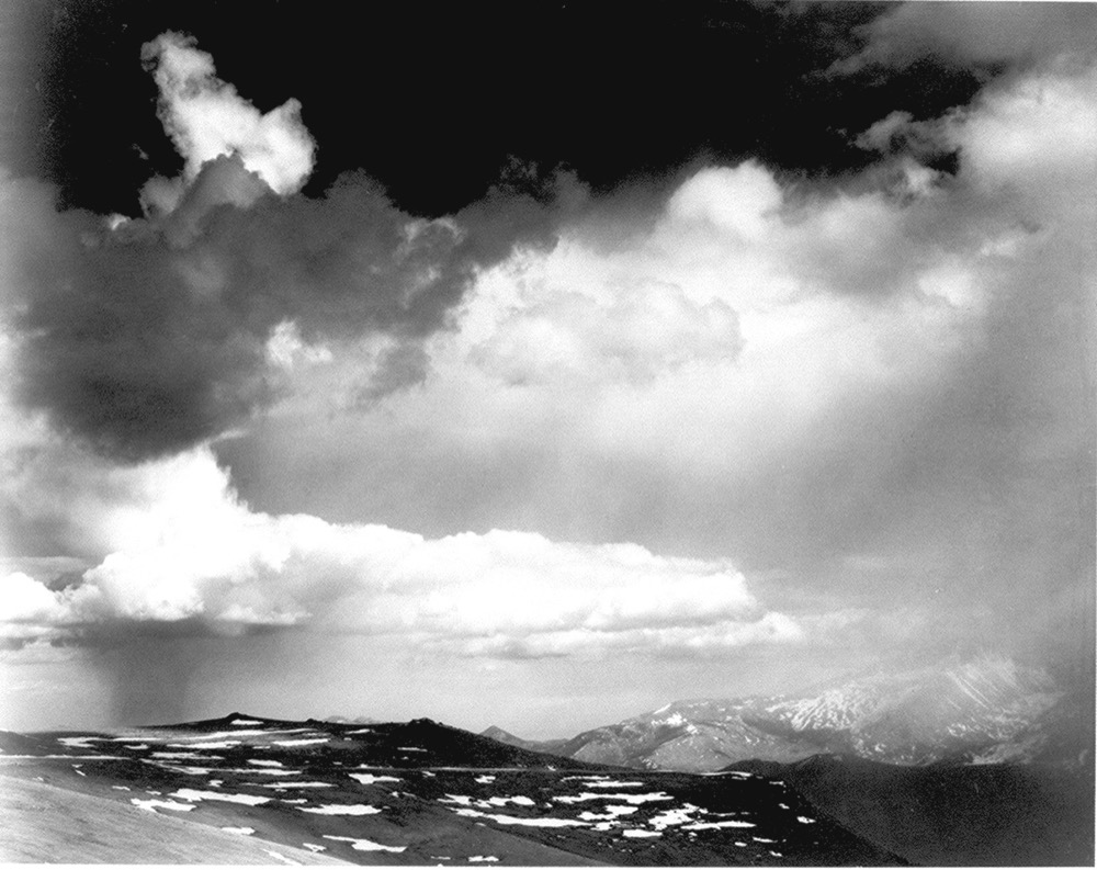 Clouds over Rocky Mountain National Park. (Ansel Adams)