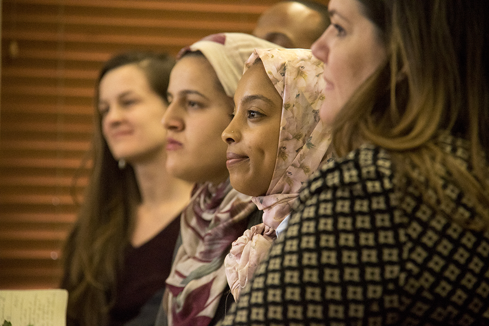 Karina Osman during a meeting between Mayor Michael Hancock and the Denver Immigrant & Refugee Commission, Feb. 3, 2017. (Kevin J. Beaty/Denverite)  immigration; refugees; mayor michael hancock; city and county building; kevinjbeaty; denver; denverite; colorado;