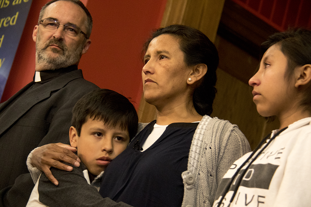 Jeanette Vizguerra addresses supporters at the First Unitarian Society of Denver, Feb. 15, 2017. (Kevin J. Beaty/Denverite)  jeanette vizguerra; immigration; undocumented; deportation; sanctuary; denver; colorado; kevinjbeaty; denverite;