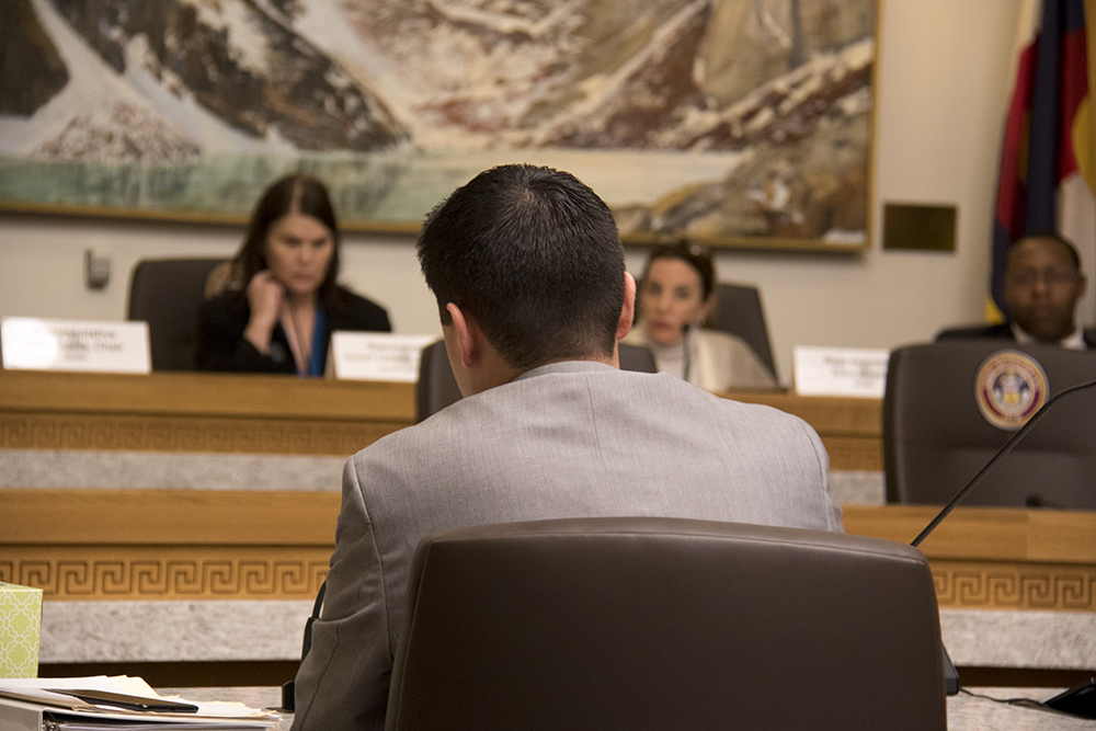 District 15 representative Dave Williams introduces House Bill 1134, Feb. 22, 2017. (Kevin J. Beaty/Denverite)  immigration; capitol; copolitics; sanctuary; kevinjbeaty; denver; colorado; denverite;