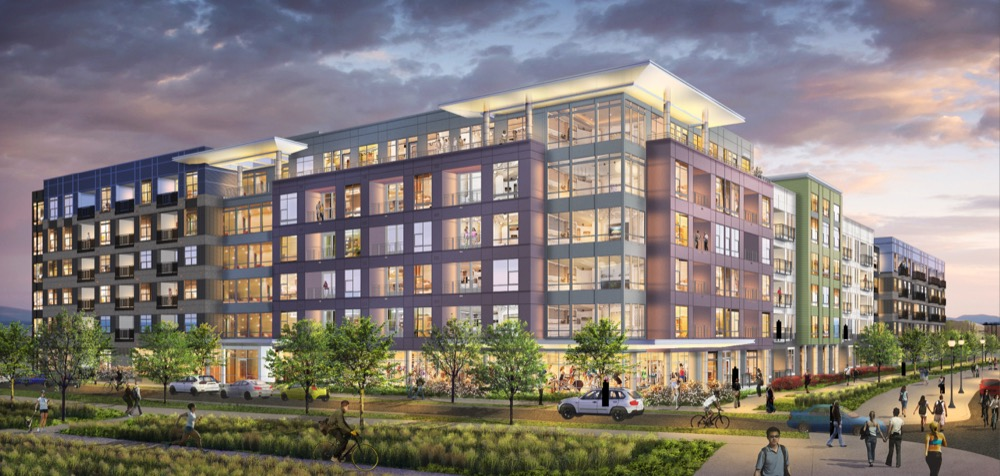 Modera River North will be located at 29th Street and Brighton Boulevard. (Courtesy The Mulhern Group, rendering by Dane Spangler)