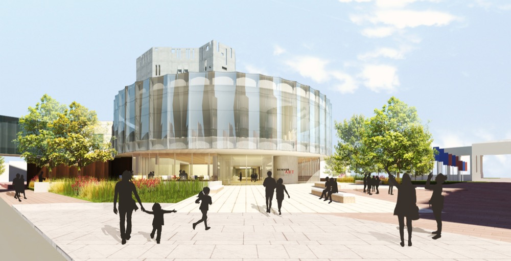 A rendering of the Denver Art Museum's soon-to-be renovated North Building. (Denver Art Museum)