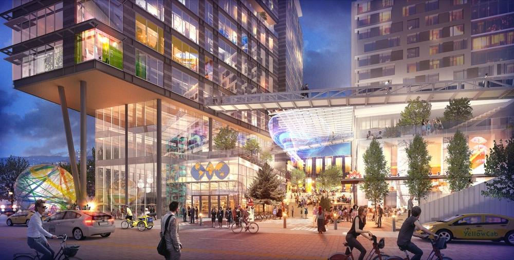 An artist's rendering of the World Trade Center project in RiNo. (Courtesy OZ Architecture)