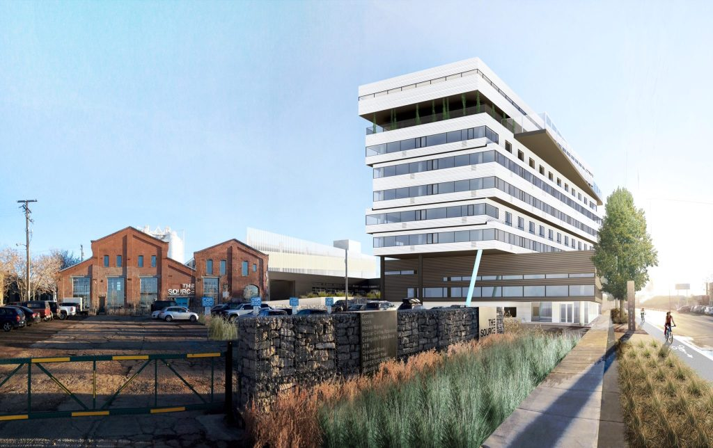 An artist's rendering of The Source hotel under construction now in RiNo. (Courtesy Zeppelin Development)