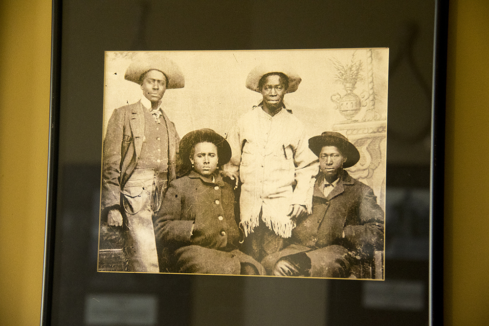 A photo of the Parker Brothers circa 1890 on the wall at the Black American West Museum. (Kevin J. Beaty/Denverite)  black american west museum; history; five points; kevinjbeaty; denverite; denver; colorado