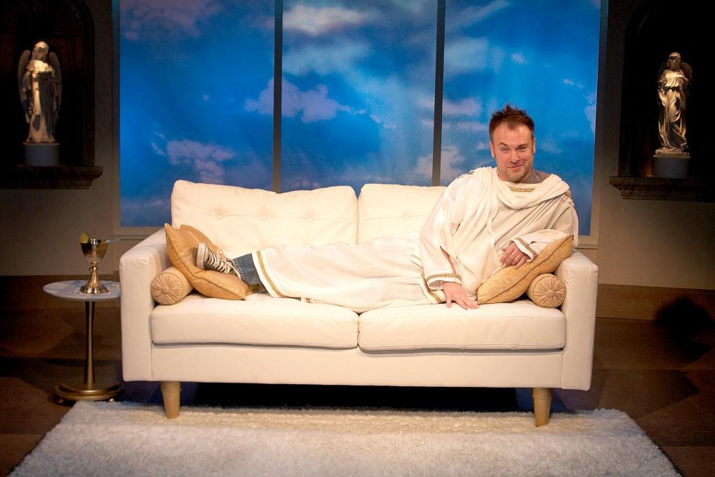 "Steven J. Burge in ""An Act of God."" (Photo: John Moore)"