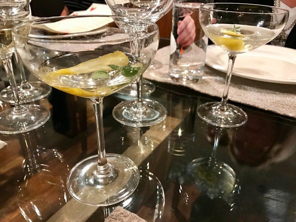 The Cannocchiale cocktail served at Cattivella, 10195 E. 29th Drive, Suite 210. (Ashley Dean/Denverite)