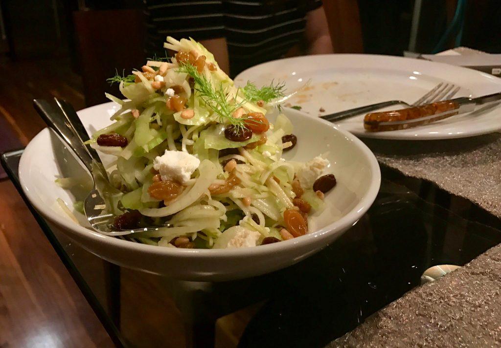 The fennel, apple and celery salad served at Cattivella, 10195 E. 29th Drive, Suite 210. (Ashley Dean/Denverite)