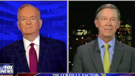 Hickenlooper on the The O'Reilly Factor on March 1, 2017. (Screenshot)