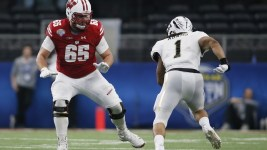 Multiple mock drafts see the Broncos taking Wisconsin offensive lineman Ryan Ramczyk in the first round next mont. (Tom Heitman/USA Today Sports)