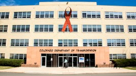 CDOT's Headquarters on Louisiana Avenue just off South Colorado Boulevard. (Kevin J. Beaty/Denverite)  denver; colorado; kevinjbeaty; denverite; cdot; virginia village; commercial real estate;