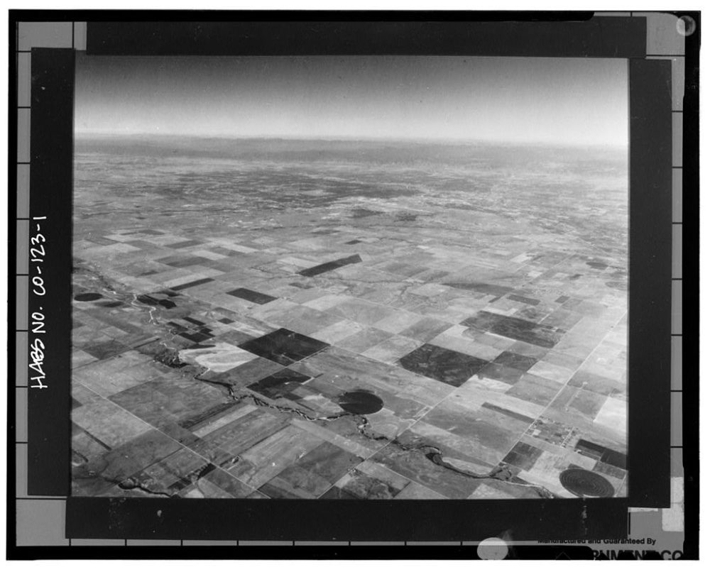 The future site of Denver International Airport in 1988. (Library of Congress)