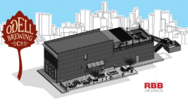 A rendering of the taproom Odell Brewing Co. plans to build in RiNo. (Courtesy of Odell Brewing Co.)