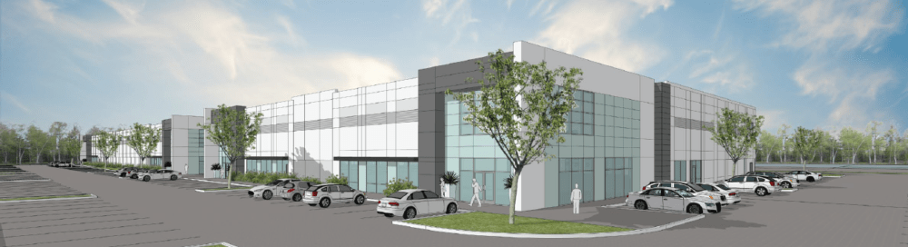 A rendering of the Interpark industrial park in Broomfield. (Courtesy of CBRE)