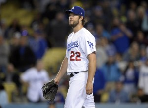 """Clayton Kershaw called Tyler Anderson's stroll from the bullpen to Colorado's dugout """"disrespectful"""". (Gary A. Vasquez/USA Today Sports)"""