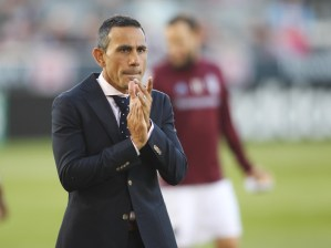 """""""It's still a work in progress,"""" Rapids manager Pablo Mastroeni said of his team and its new identity. (Chris Humphreys/USA Today Sports)"""