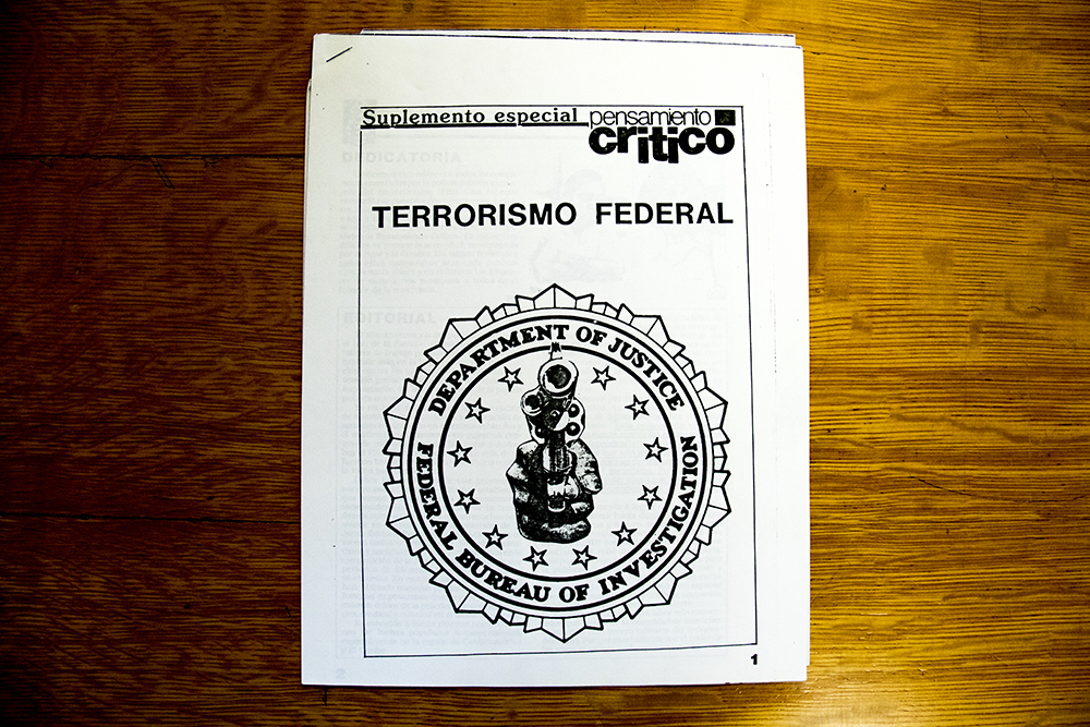 """Terrorismo Federal."" (Denver Public Library/Western History Collection/Rodolfo ""Corky"" Gonzales Papers)  denver public library; dpl; cinco de mayo; chicano; denverite; denver; colorado; archive;"