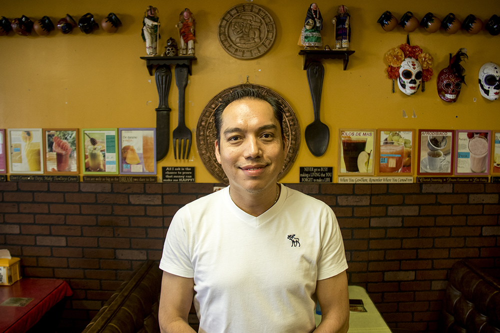 Noe Bermudez in his Athmar Park restaurant, Tarasco. (Kevin J. Beaty/Denverite)  athmar park; food; restaurant; mexican food; denver; colorado; federal boulevard; denverite; kevinjbeaty;