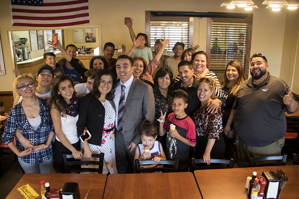 Isidro Quintana and his family. Golden Corral in Centennial, May 15, 2017. (Kevin J. Beaty/Denverite)  kevinjbeaty; denverite; colorado; isidro quintana; GEO; immigration; deportation;
