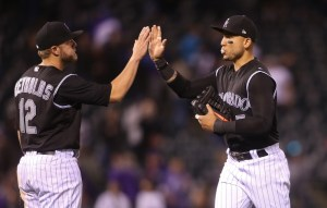 Carlos Gonzalez showed signs of busting out of his slump in the Rockies' win Thursday. (Chris Humphreys/USA Today Sports)