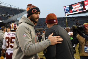 Jay Cutler is reportedly weighing a career in TV. (Patrick Gorski/USA Today Sports)