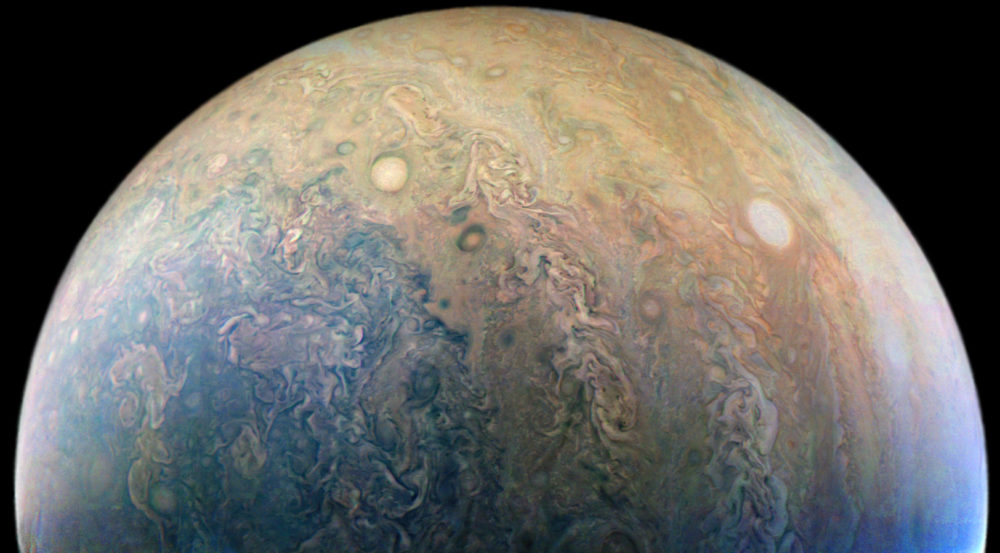 Jupiter, as captured by Juno. (NASA)