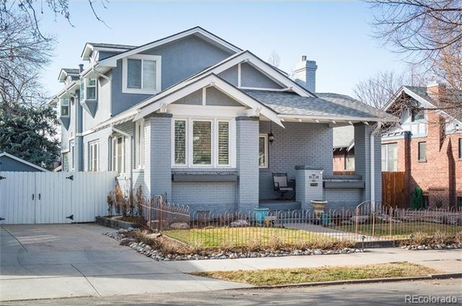 Do you like the blue brick exterior of 1137 South Gaylord?  How much do you think this home is worth? (Courtesy of Redfin)