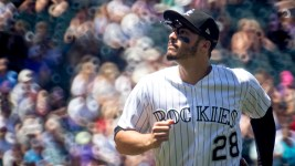 Nolan Arenado. Colorado Rockies vs the Cleveland Indians, June 7, 2017. (Kevin J. Beaty/Denverite)  colorado rockies; denver; sports; baseball; coors field; kevinjbeaty; denverite; colorado;