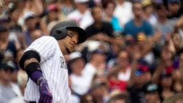 Carlos González. Colorado Rockies vs the Cleveland Indians, June 7, 2017. (Kevin J. Beaty/Denverite)  colorado rockies; denver; sports; baseball; coors field; kevinjbeaty; denverite; colorado;