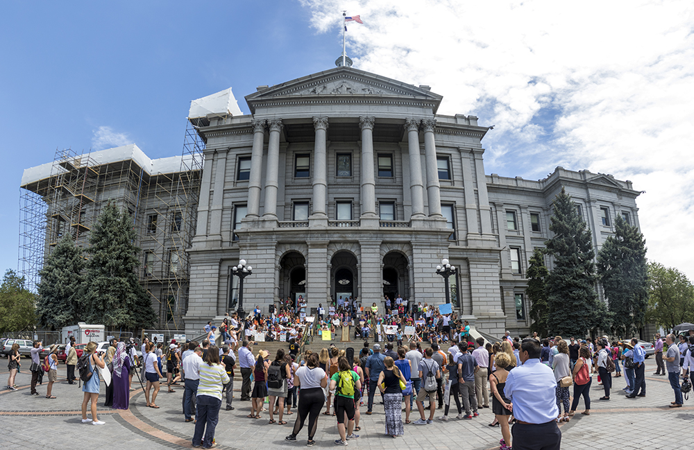 World Refugee Day, June 20, 2017. (Kevin J. Beaty/Denverite)  denver; denverite; world refugee day; colorado; kevinjbeaty; capitol hill; rally;