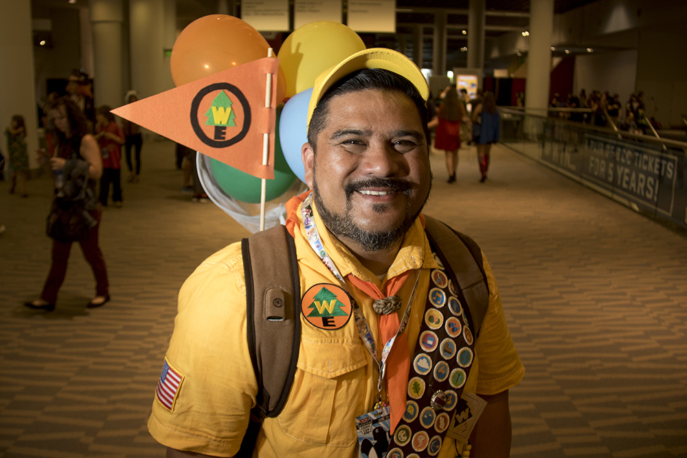 Henrey Kamae as Russell from Up. Denver Comic Con 2017. (Kevin J. Beaty/Denverite)  comic con; cosplay; kevinjbeaty; denver; denverite; colorado;