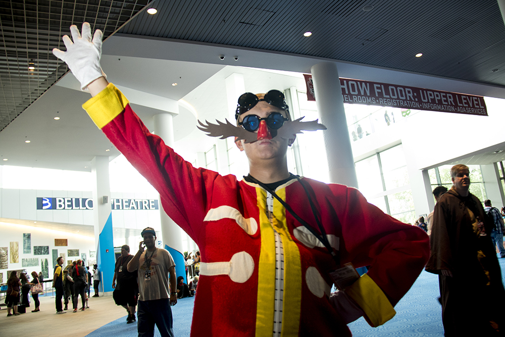 Andrew Hadfield as Sonic's nemesis, Eggman. Denver Comic Con 2017. (Kevin J. Beaty/Denverite)  comic con; cosplay; kevinjbeaty; denver; denverite; colorado;