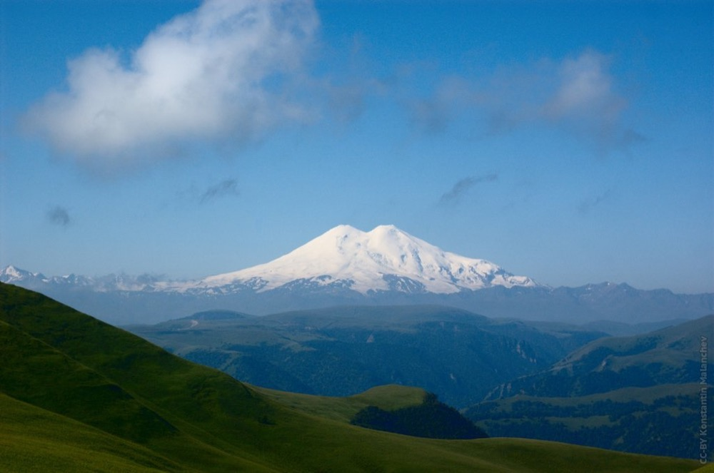 Elbrus from mount Shatgatmaz, Karachay-Cherkessia, Russia. It is the highest mountain in Europe and Russia. (Konstantin Malanchev/Flickr/Creative Commons)