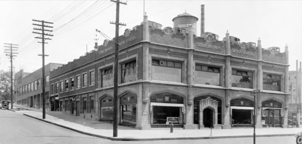 The building at 1278 Lincoln St. during the first half of the 20th Century when it was still being occupied by the James Dodge Motor Co. (Courtesy of the Colorado Land Board.)