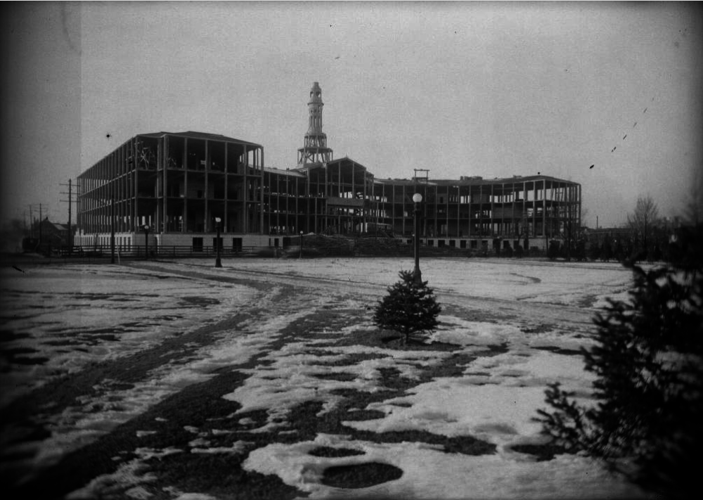 The Denver City and County Building under construction in 1931. (Harry Mellon Rhoads/Western History & Genealogy Dept./Denver Public Library)