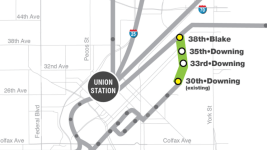 A map of the future Central Rail Extension. (RTD)
