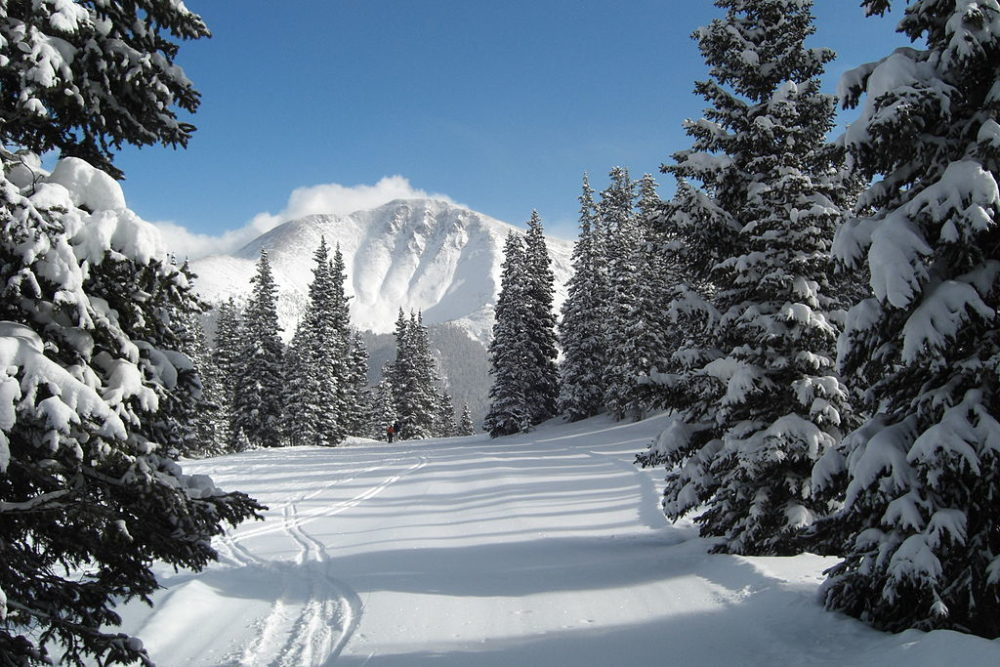 Parry Peak seen from the Roundhouse run of Winter Park in 2008. (EpicV27/Wikimedia Commons)