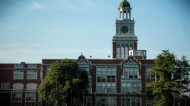 East High School. (Kevin J. Beaty/Denverite)  denver; colorado; high school; denverite; kevinjbeaty;